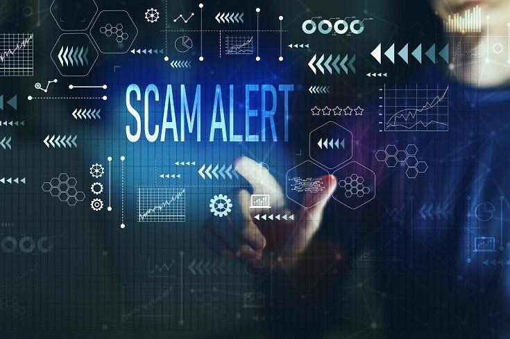 Mensaje de alerta de fraude