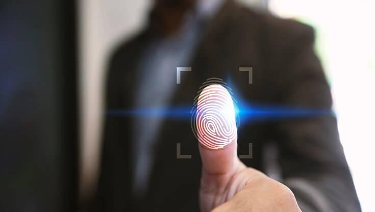 Protección de datos con huella