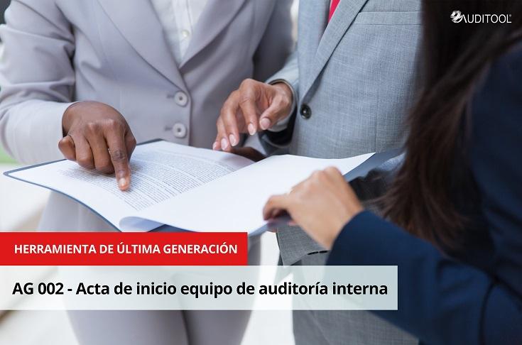 AG 002 - Acta de inicio equipo de auditoría interna