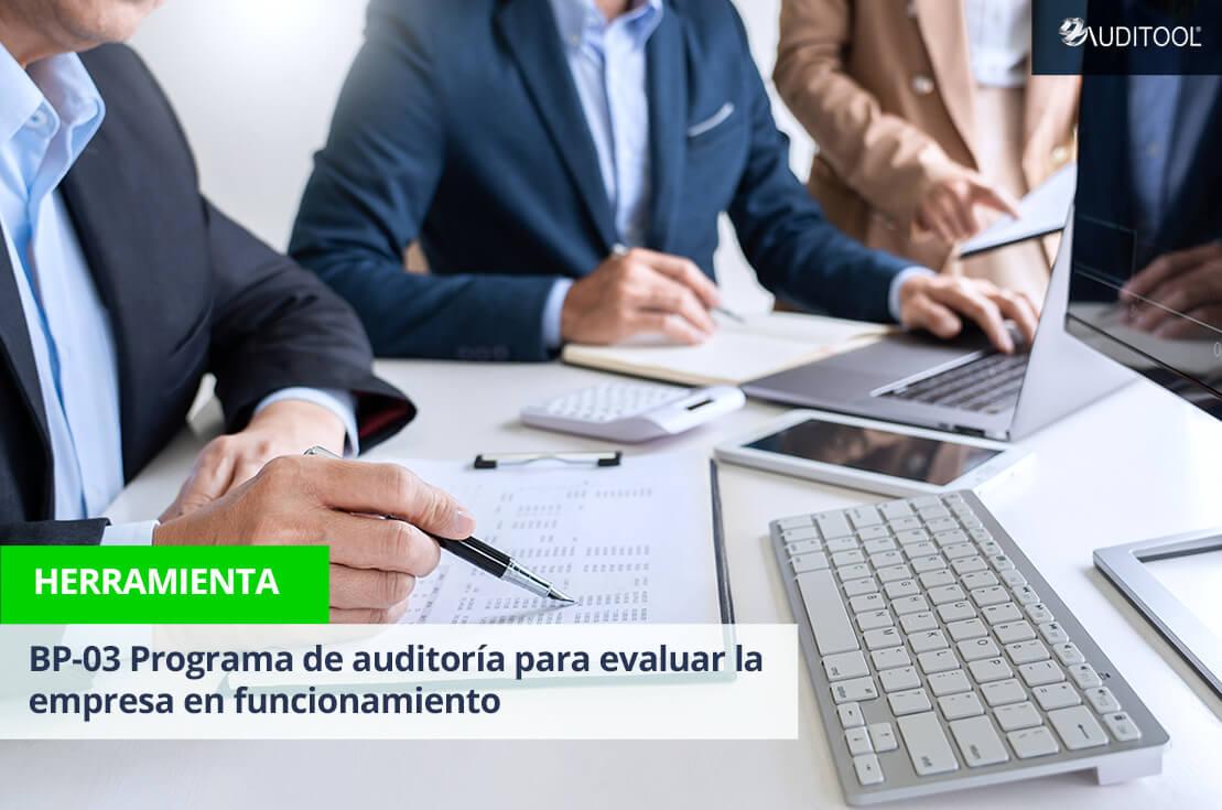 BP-03 Programa de auditoría para evaluar la empresa en funcionamiento