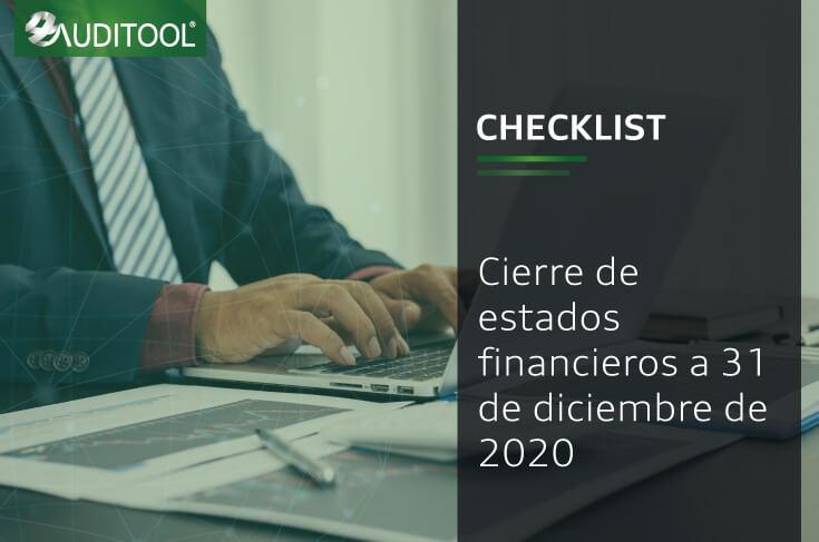 Checklist cierre de estados financieros a 31 de diciembre de 2020