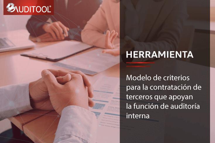 B-DC 001 Modelo de criterios para la contratación de terceros que apoyan la función de auditoría interna
