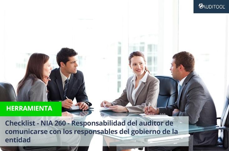 Checklist - NIA 260 - Responsabilidad del auditor de comunicarse con los responsables del gobierno de la entidad