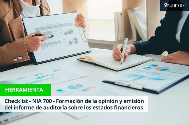 Checklist - NIA 700 - Formación de la opinión y emisión  del informe de auditoría sobre los estados financieros