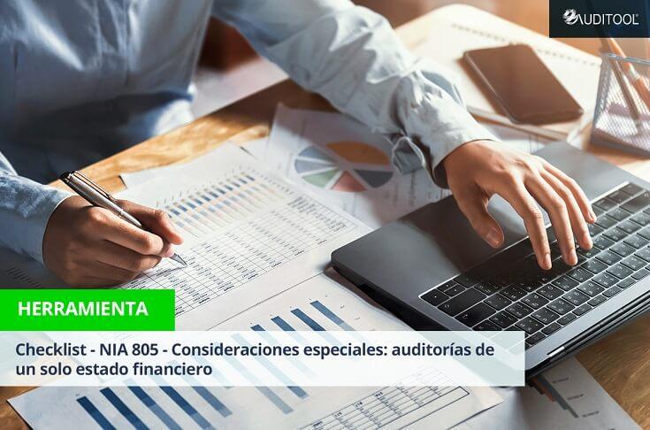 Checklist - NIA 805 - Consideraciones Especiales: auditorías de un solo estado financiero