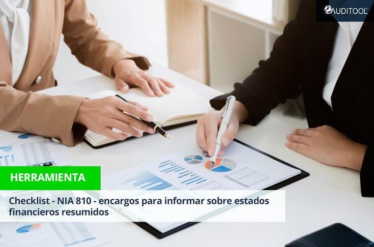 Checklist - NIA 810 - Encargos para informar sobre estados financieros resumidos