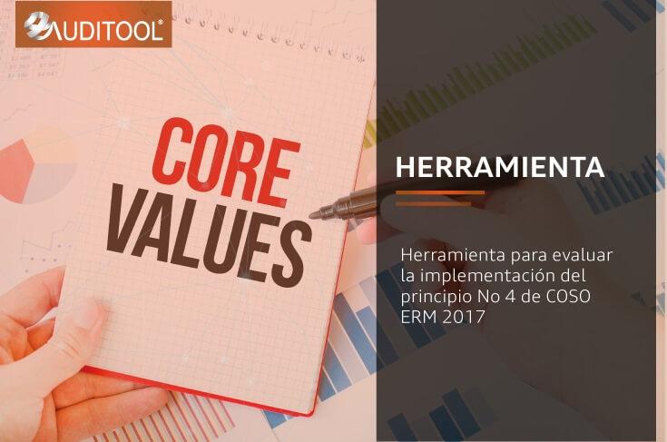Herramienta para evaluar la implementación del principio No 4 de COSO ERM 2017