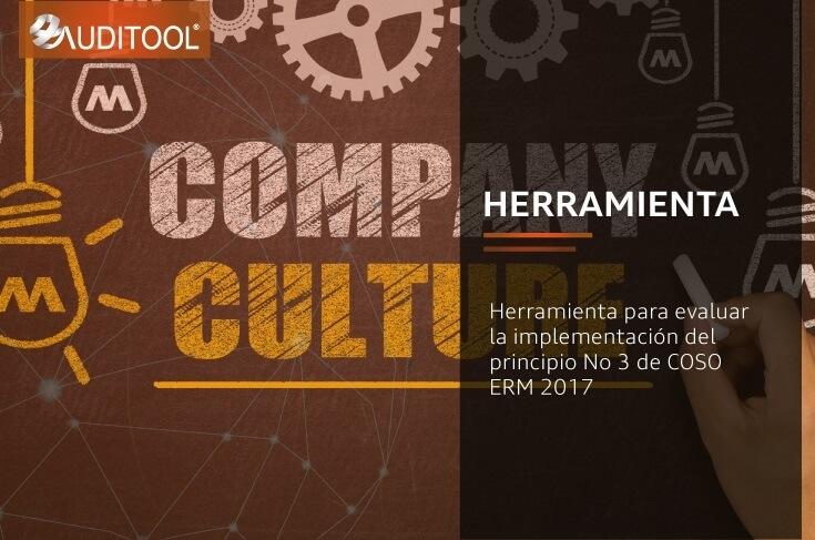 Herramienta para evaluar la implementación del principio No 3 de COSO ERM 2017