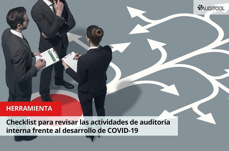 Checklist para revisar las actividades de auditoría interna frente al desarrollo de COVID-19