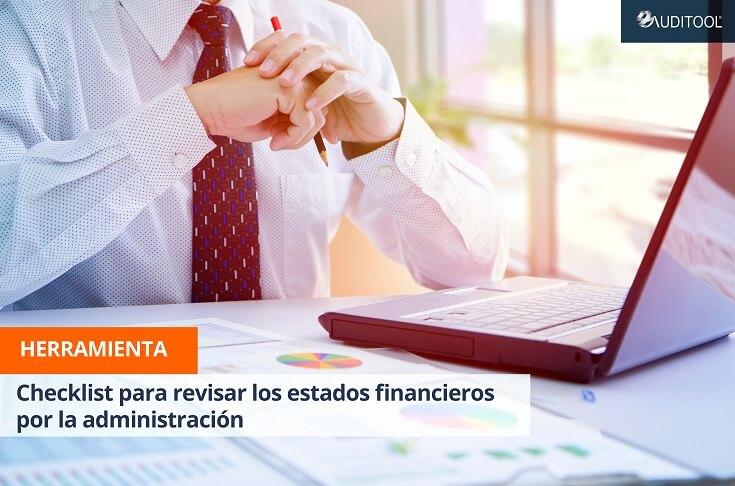 Checklist para revisar los estados financieros por la administración