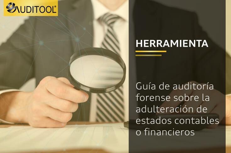Guía de auditoría forense sobre la adulteración de estados contables o financieros